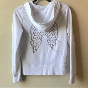 VS Angel Collection Zip Hoodie White Winged